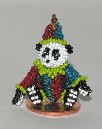 Micro Miniature Bears Clown Sitting 1