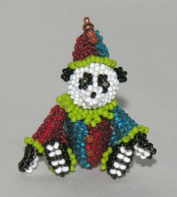 Micro Miniatur Bears Clown Sitting 2