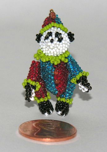 Micro Miniature Bears Clown Standing