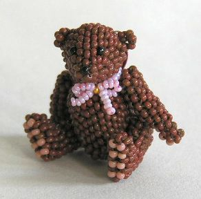Micro Miniature Brown Bear Sitting 1