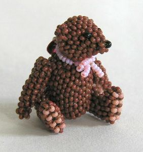 Micro Miniature Brown Bear Sitting 2
