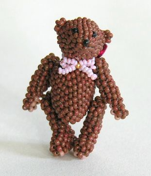 Micro Miniature Brown Bear Standing