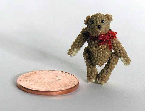 Micro Miniature Tan Bear Standing 1
