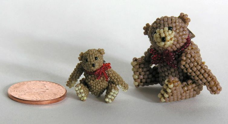 Micro Miniature Tan Bears Sitting 1