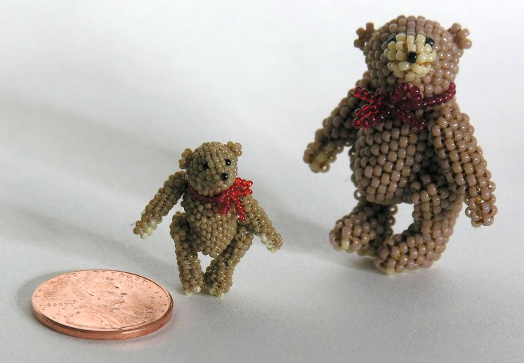 Micro Miniature Tan Bears Standing 1